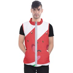 Watermelon Red Network Fruit Juicy Men s Puffer Vest