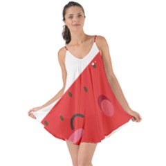 Watermelon Red Network Fruit Juicy Love The Sun Cover Up