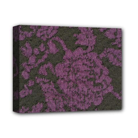 Purple Black Red Fabric Textile Deluxe Canvas 14  X 11