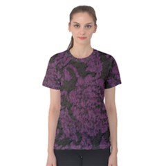Purple Black Red Fabric Textile Women s Cotton Tee