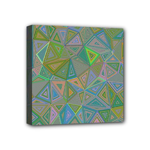 Triangle Background Abstract Mini Canvas 4  X 4