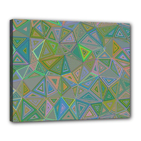 Triangle Background Abstract Canvas 20  X 16