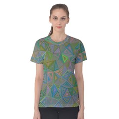 Triangle Background Abstract Women s Cotton Tee