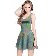 Triangle Background Abstract Reversible Sleeveless Dress