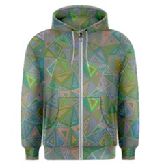 Triangle Background Abstract Men s Zipper Hoodie