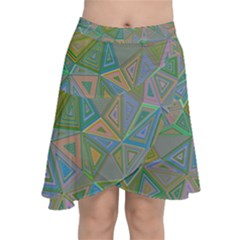 Triangle Background Abstract Chiffon Wrap