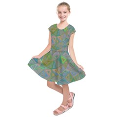 Triangle Background Abstract Kids  Short Sleeve Dress