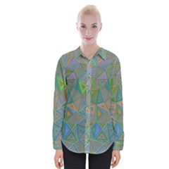 Triangle Background Abstract Womens Long Sleeve Shirt
