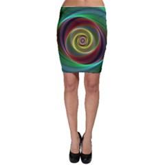 Spiral Vortex Fractal Render Swirl Bodycon Skirt