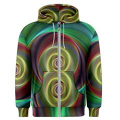 Spiral Vortex Fractal Render Swirl Men s Zipper Hoodie