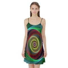 Spiral Vortex Fractal Render Swirl Satin Night Slip