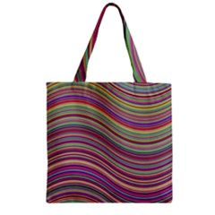Wave Abstract Happy Background Zipper Grocery Tote Bag