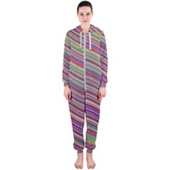 Wave Abstract Happy Background Hooded Jumpsuit (ladies)