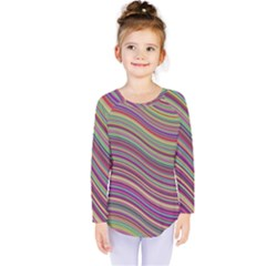 Wave Abstract Happy Background Kids  Long Sleeve Tee