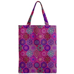 12 Geometric Hand Drawings Pattern Zipper Classic Tote Bag