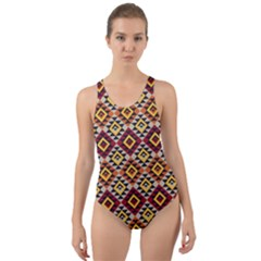 Native American Pattern 15 Cut Out Back One Piece Swimsuit