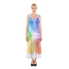 Heart Love Wedding Valentine Day Sleeveless Maxi Dress
