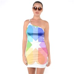 Heart Love Wedding Valentine Day One Soulder Bodycon Dress