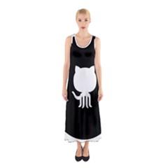 Logo Icon Github Sleeveless Maxi Dress