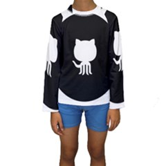 Logo Icon Github Kids  Long Sleeve Swimwear