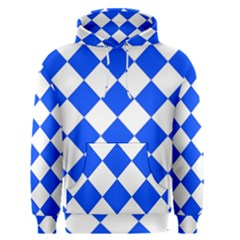 Blue White Diamonds Seamless Men s Pullover Hoodie