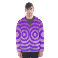 Circle Target Focus Concentric Hooded Wind Breaker (men)