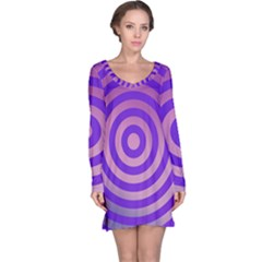 Circle Target Focus Concentric Long Sleeve Nightdress