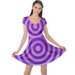Circle Target Focus Concentric Cap Sleeve Dress
