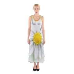 Art Daisy Flower Art Flower Deco Sleeveless Maxi Dress