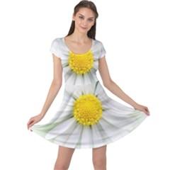 Art Daisy Flower Art Flower Deco Cap Sleeve Dress
