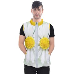 Art Daisy Flower Art Flower Deco Men s Puffer Vest