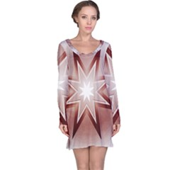 Star Christmas Festival Decoration Long Sleeve Nightdress