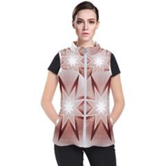 Star Christmas Festival Decoration Women s Puffer Vest