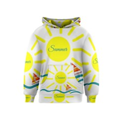 Summer Beach Holiday Holidays Sun Kids  Pullover Hoodie