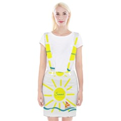 Summer Beach Holiday Holidays Sun Braces Suspender Skirt