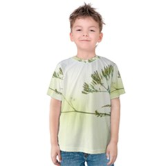 Spring Plant Nature Blue Green Kids  Cotton Tee