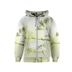 Spring Plant Nature Blue Green Kids  Zipper Hoodie