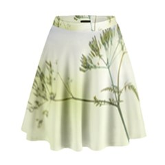 Spring Plant Nature Blue Green High Waist Skirt