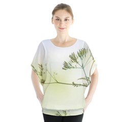 Spring Plant Nature Blue Green Blouse