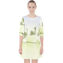 Spring Plant Nature Blue Green Pocket Dress