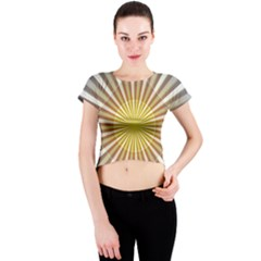 Abstract Art Modern Abstract Crew Neck Crop Top