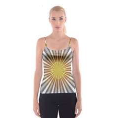 Abstract Art Modern Abstract Spaghetti Strap Top