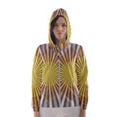 Abstract Art Modern Abstract Hooded Wind Breaker (women)