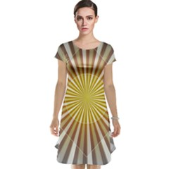 Abstract Art Modern Abstract Cap Sleeve Nightdress