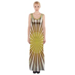 Abstract Art Modern Abstract Maxi Thigh Split Dress