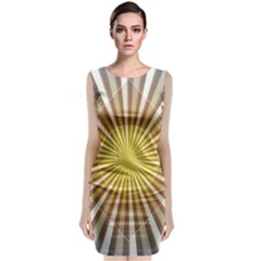 Abstract Art Modern Abstract Classic Sleeveless Midi Dress