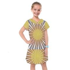 Abstract Art Modern Abstract Kids  Drop Waist Dress