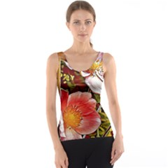 Flower Hostanamone Drawing Plant Tank Top
