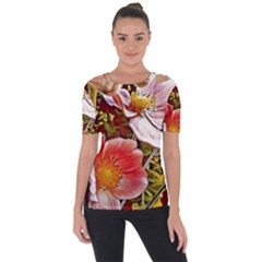 Flower Hostanamone Drawing Plant Short Sleeve Top