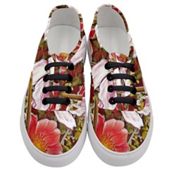 Flower Hostanamone Drawing Plant Women s Classic Low Top Sneakers